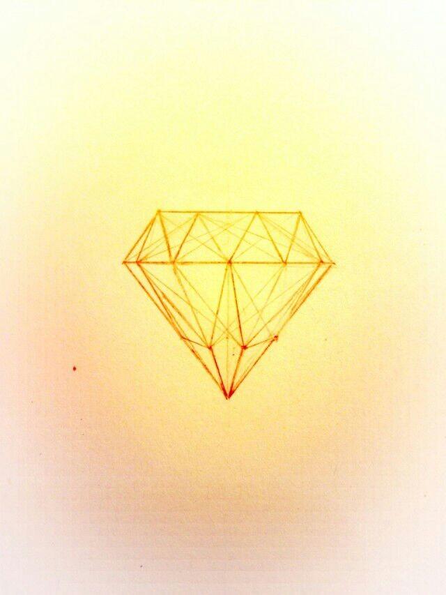 钻石简笔画图片 动漫