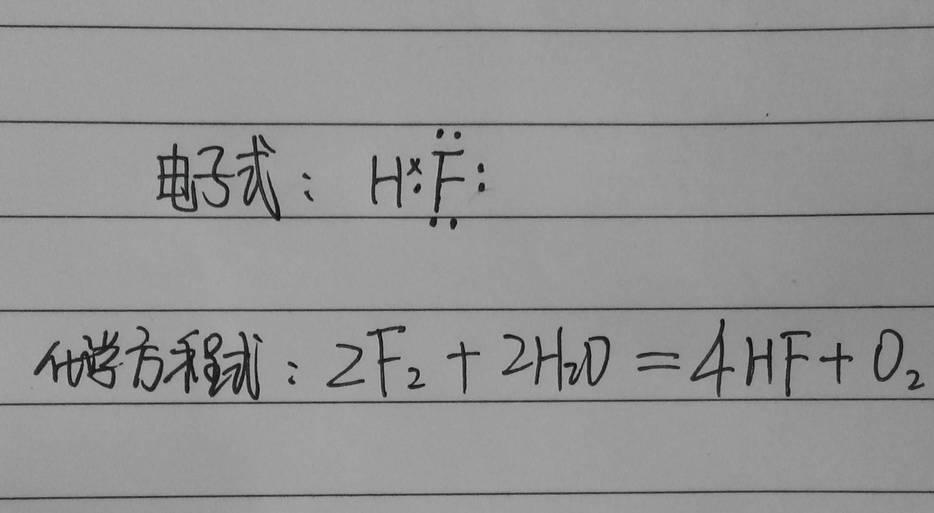 f的氢化物的电子式,和f通入水的化学方程式.图片