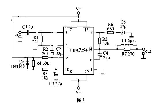 ——★2, 请看附图. 图 1 为 ocl 功放电路, 图 2 是 btl 功放电路.