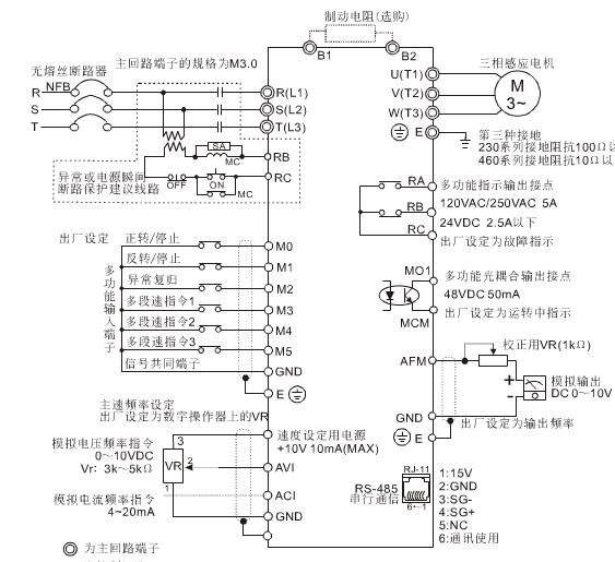37kw三相异步电动机用变频器调速怎样接线线