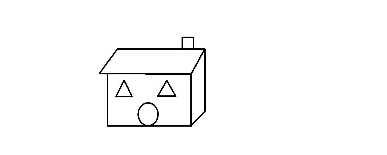 三角形,圆形,长方形,正方形,平行四边形怎么拼图案