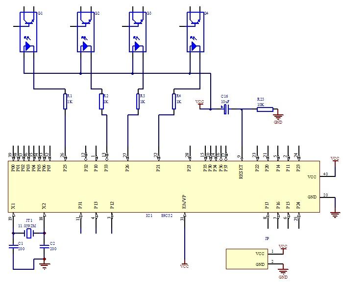 下面是一个电机控制电路,大神门可以帮我用51单片机做