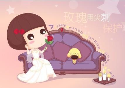 可爱胖脸齐刘海的卡通女孩名字