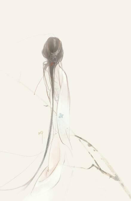 求类似手绘黑白美女背影图片.越多越好!谢谢!