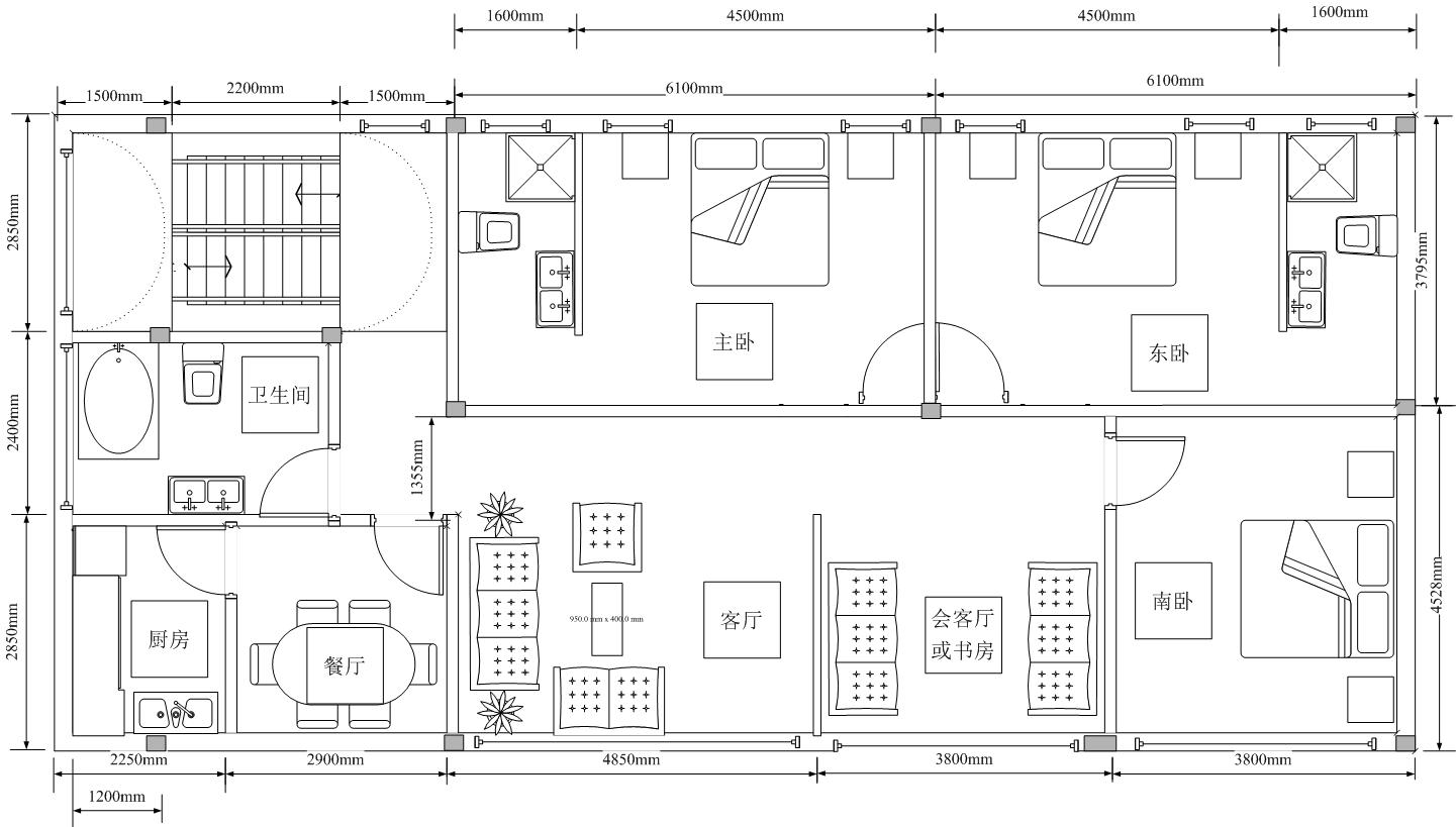 住宅平面图中的承重墙和柱子怎么设计