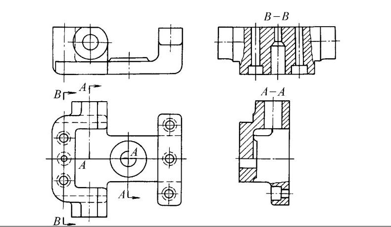 机械制图中这个a一a是什么意思 如下图所示