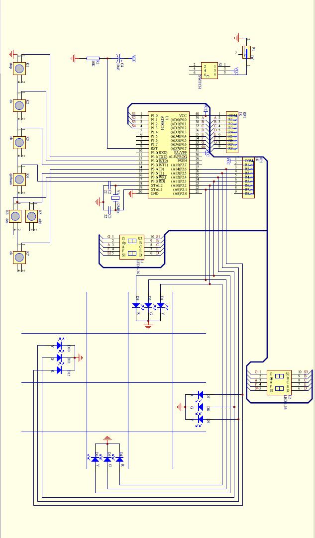 毕业论文单片机交通灯设计与实现 电路图以下,单片机是80c51请c语言高