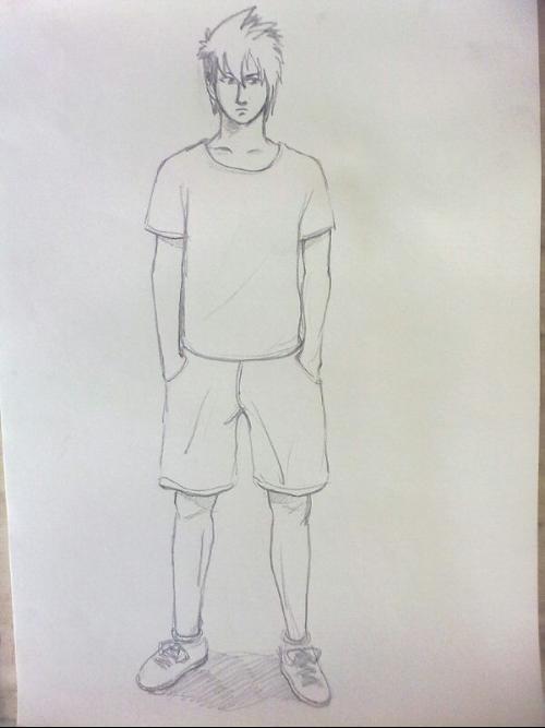 人物素描图片简单