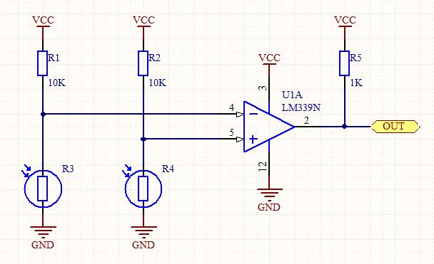 光敏电阻如何采集光强输出高低电平