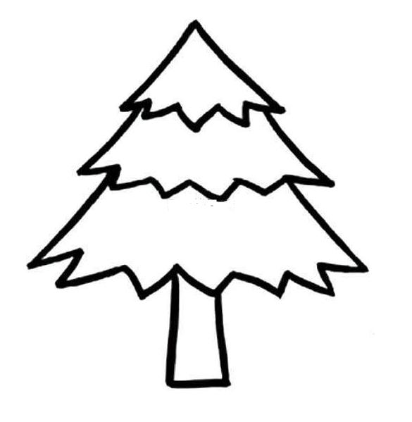 松树怎么画松树简笔画