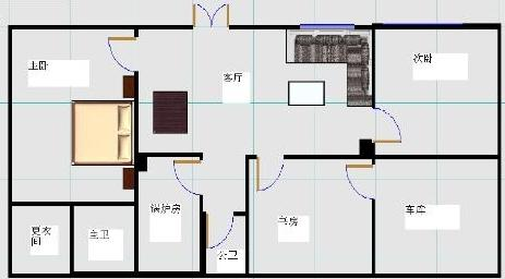 7x15米地基房屋设计图