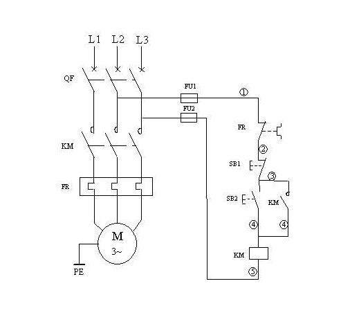 交流接触器和热继电器怎么接线