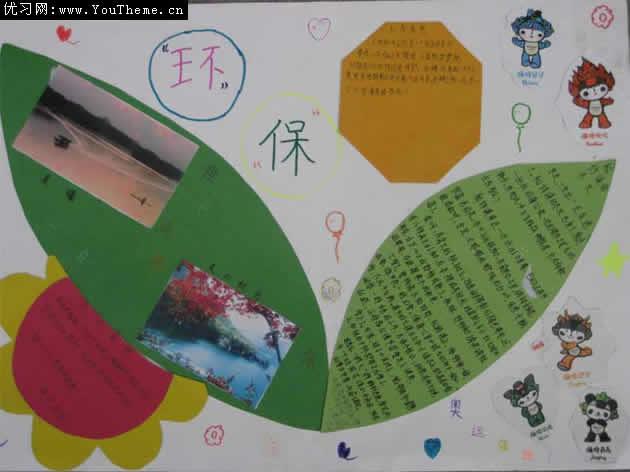 保护绿色环境的手抄报样板