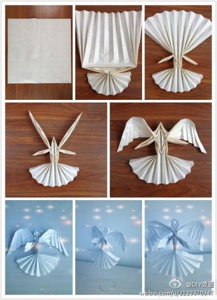 有这种天使折纸的教程么