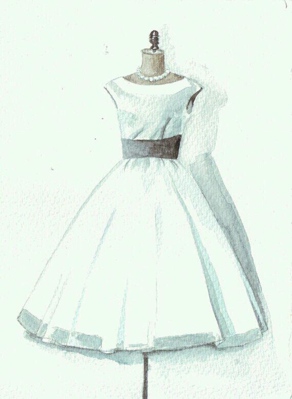 求图片,白裙子的,手绘,差不多像下面那样.