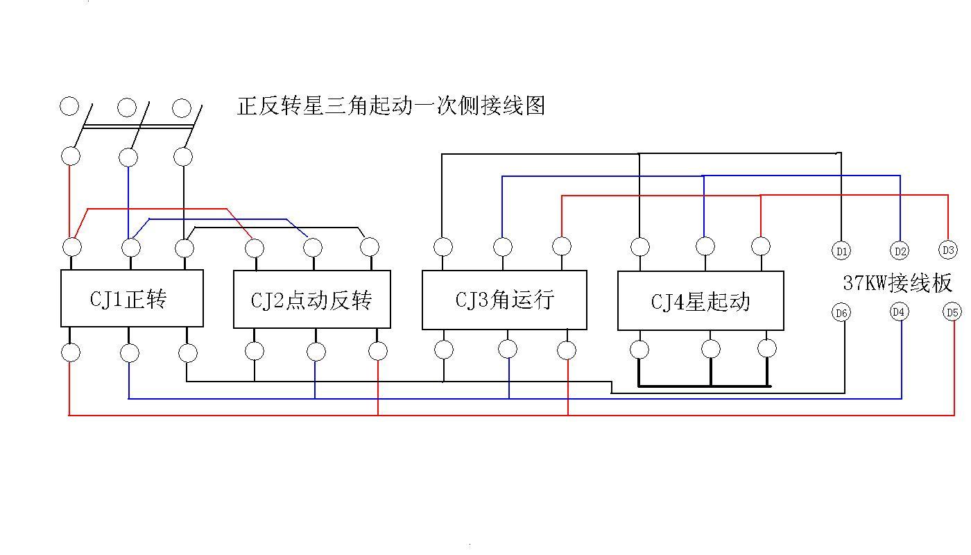求三相异步电动机的降压起动控制电路图