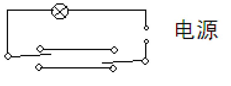 双控照明开关的安装线路图