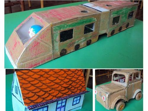儿童手工制作,鞋盒做小房子怎么做