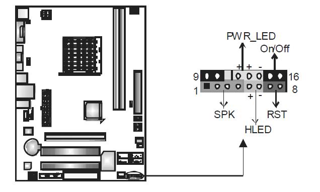 映泰主板mcp6p-m2 机箱电源线和主板如何连接最好有图解