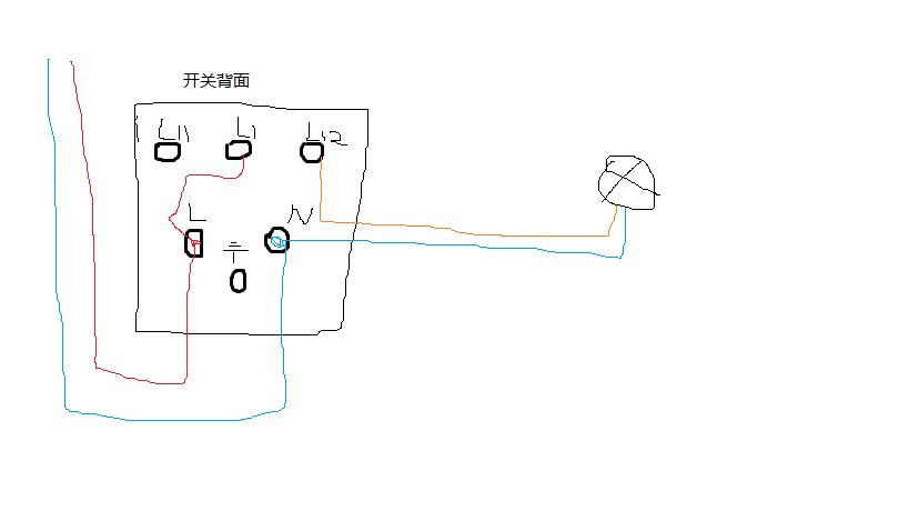 一开五孔的接线怎么接,是松本的那种插座,是不是按钮2