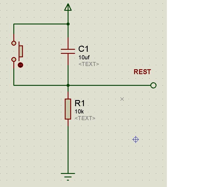 8031单片机的手动和自动复位电路图