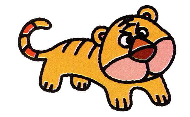 老虎的简笔画可不可以简单点