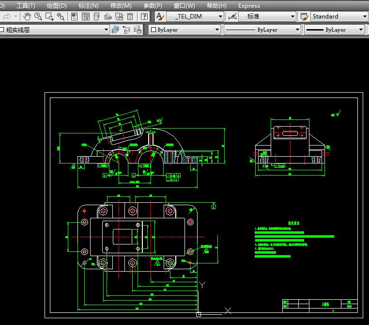 一级圆柱齿轮减速器装配图,零件图.