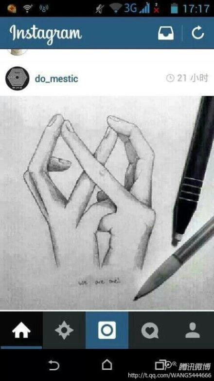 这个exo手势怎么做?