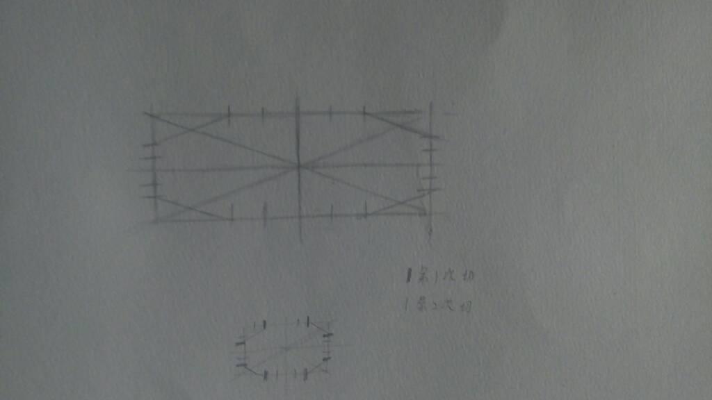 长方形切椭圆方法,图解要图解,素描
