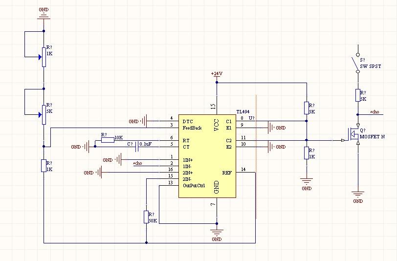 3条回答  你这只是斩波电路而已,恒流源电路需要有电流采样元件,反馈