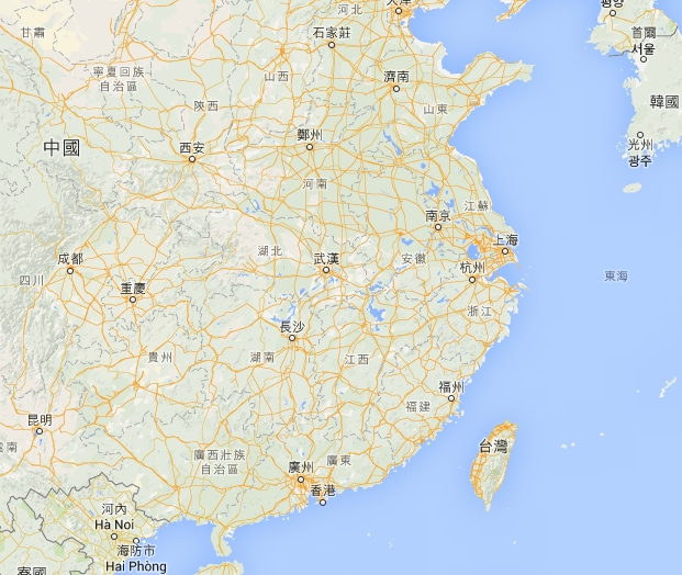查一查中国地图,看看台湾省在什么方位