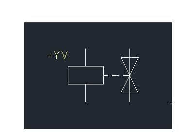 电磁阀在电路里面怎么表示. 怎么画的图片