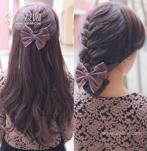 适合长发女生的编辫子的发型有哪些?图片