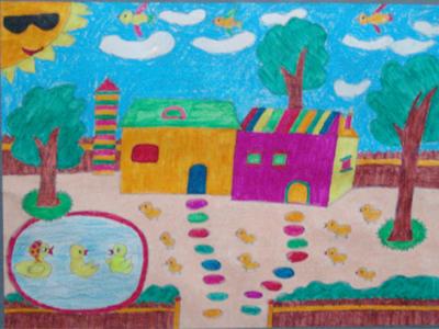 3,小学年画------《欢乐过新年》