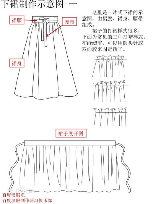 汉服制作大神教做该汉服,求详细步骤或图解,本人身高