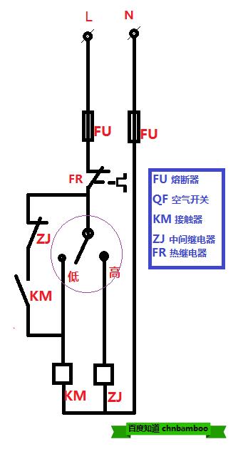 三相潜水泵,用电接点压力表,一热继电器和2个中间继电器,1个接触器