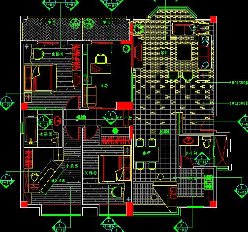 一百二十平方平房四室一厅一厨一卫设计图