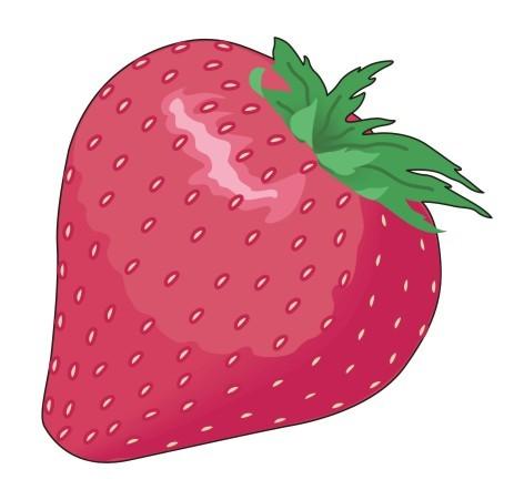 如何在photoshop里用钢笔工具画苹果,心和草莓,最好有图片