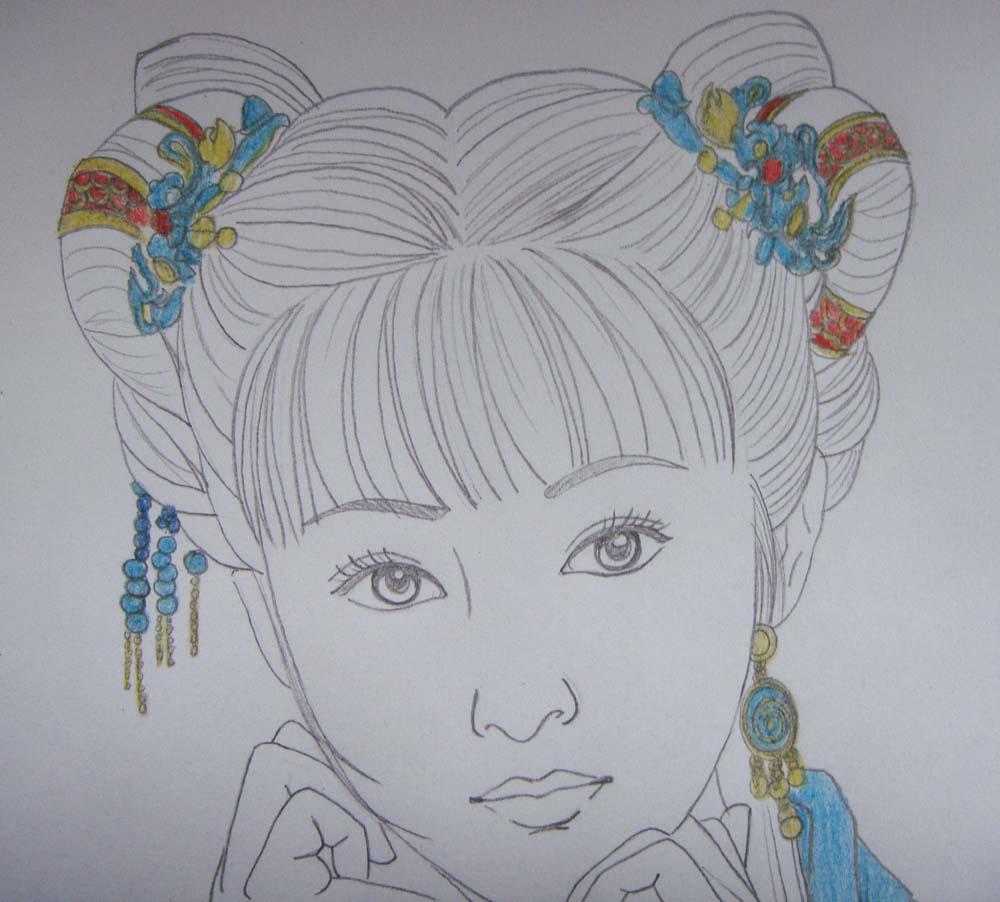 用笔怎么画手绘古装美女