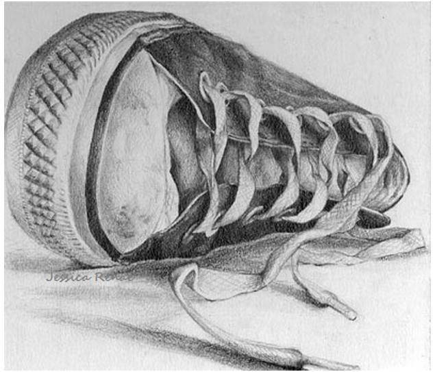 素描鞋子怎样画图片