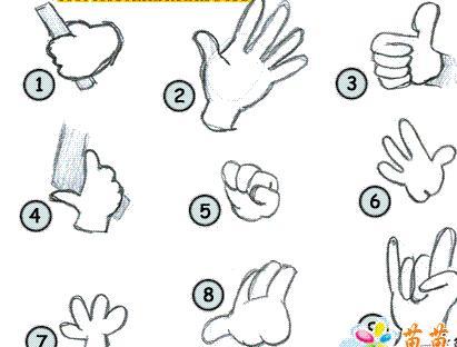 怎样画漫画人物的手