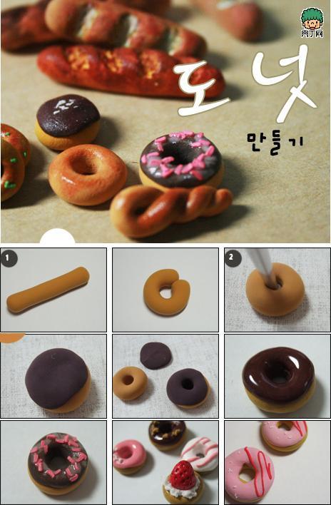 用超轻粘土做甜品图片