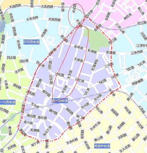 上海虹口区地图_上海市虹口区天宝路属什么街道呀