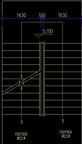 室内钢结构楼梯,楼板和踏步花纹钢板t=4mm,双跑楼梯,梯高1.8m.