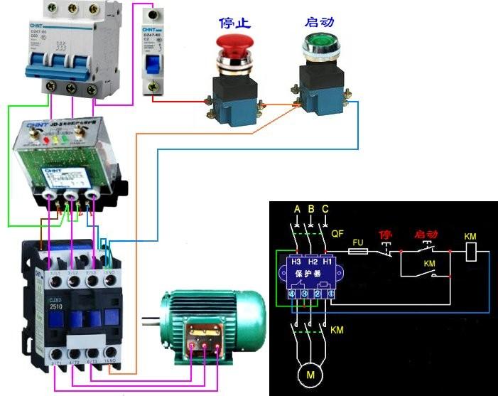 jd5電動機綜合保護器的接線方法