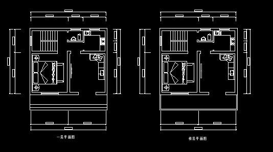 楼房设计图纸求长11米宽7.3米二房一厅一卫一厨,左右都有房子