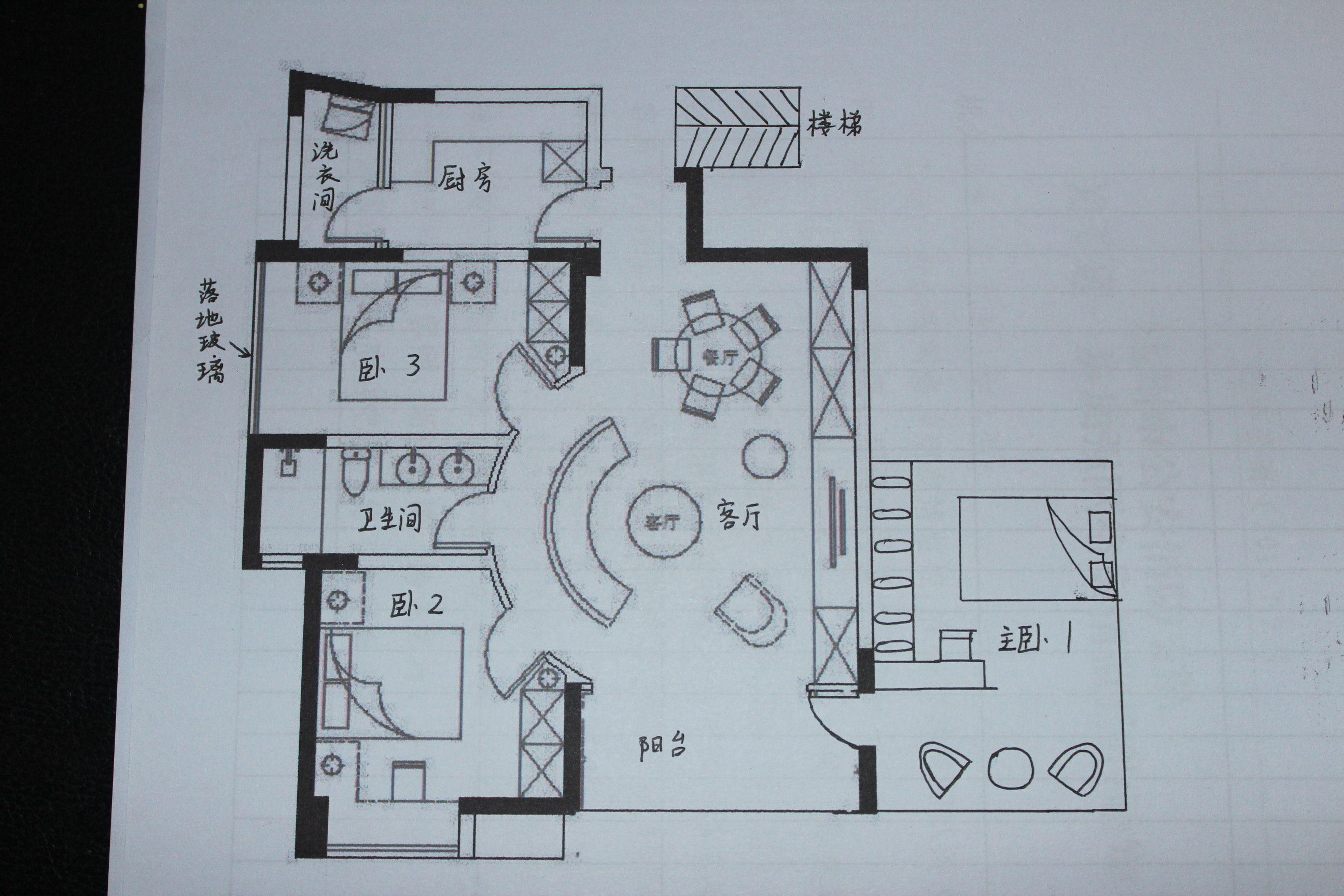 求90平方米房屋设计图纸,急急图片