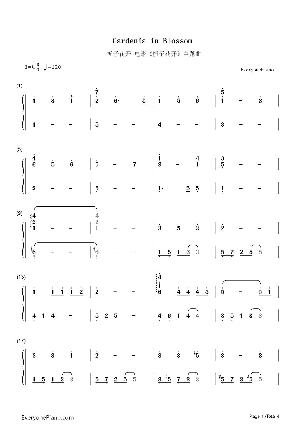 《小幸运》电子琴简谱 多幸运电子琴简谱剧情介绍