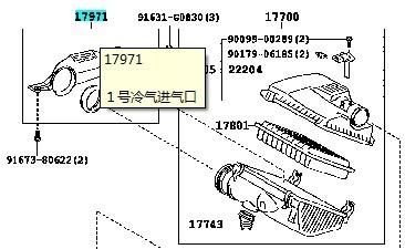 普拉多2010款(进口)发动机进气口在哪?