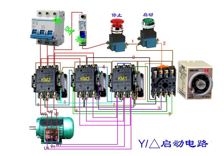 220v,按扭开关带六个接线柱带灯按钮开关接线图